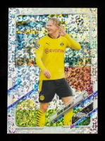 Erling Haaland 2020-21 Topps Chrome UEFA Champions League Speckle Refractors #49 at PristineAuction.com