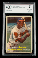 Hank Aaron 1957 Topps #20 (BCCG 7) at PristineAuction.com