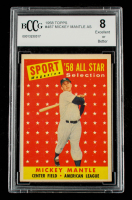 Mickey Mantle 1958 Topps #487 All-Star TP (BCCG 8) at PristineAuction.com
