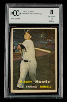 Mickey Mantle 1957 Topps #95 (BCCG 8) at PristineAuction.com