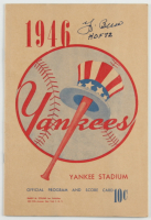 "Yogi Berra Signed New York Yankees Program Inscribed ""HOF 72"" (Beckett LOA) (See Description) at PristineAuction.com"