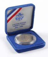 1986-S United States Liberty $1 One Dollar Coin with Display Case at PristineAuction.com