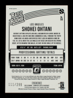 Shohei Ohtani 2018 Donruss Optic Variations Aqua #56 RR #111/299 at PristineAuction.com