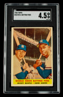 Mickey Mantle / Hank Aaron 1958 Topps #418 World Series Batting Foes (SGC 4.5) at PristineAuction.com