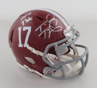 """Tua Tagovailoa Signed Alabama Crimson Tide Speed Mini Helmet Inscribed """"Roll Tide"""" (Beckett COA) at PristineAuction.com"""