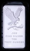 10 Troy oz SilverTowne Eagle Silver Bullion Bar at PristineAuction.com