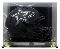 CeeDee Lamb Signed Cowboys Full-Size Eclipse Alternate Speed Helmet with Display Case (Fanatics Hologram) at PristineAuction.com