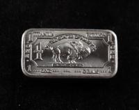 1 Gram .999 Fine Titanium Buffalo Bullion Bar at PristineAuction.com