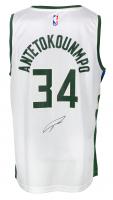 Giannis Antetokounmpo Signed Bucks Nike Jersey (Beckett COA) at PristineAuction.com