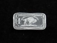 1 Gram .999 Fine Zinc Buffalo Bullion Bar at PristineAuction.com