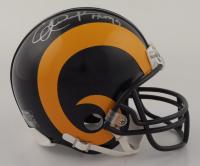 "Eric Dickerson Signed Rams Mini Helmet Inscribed ""H0F 99"" (Schwartz COA) at PristineAuction.com"