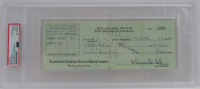 Bert Bell Signed 1940 Personal Bank Check (PSA Encapsulated) at PristineAuction.com