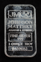 1 Troy Ounce .999 Fine Silver Johnson Matthey Assayers & Refiners Bullion Bar at PristineAuction.com