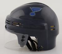 Brett Hull Signed Blues Hockey Mini Helmet (Schwartz Sports COA) at PristineAuction.com