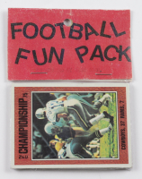 1975-76 Topps Football Card Fun Pack with (10) Cards at PristineAuction.com