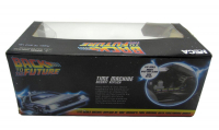 """Christopher Lloyd Signed """"Back to the Future"""" DeLorean Time Machine 1:16 Scale Die-Cast Car With Original Packaging (JSA COA) (See Description) at PristineAuction.com"""