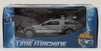 "Michael J. Fox & Christopher Lloyd Signed ""Back to the Future II"" DeLorean Time Machine 1:24 Scale Die-Cast Car (PSA LOA) (See Description) at PristineAuction.com"