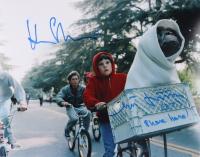 "Matthew De Meritt & Henry Thomas Signed ""E.T. the Extra-Terrestrial"" 11x14 Photo Inscribed ""(E.T.)"" & ""Phone Home!"" (Beckett COA) at PristineAuction.com"