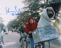 "Matthew De Meritt & Henry Thomas Signed ""E.T. the Extra-Terrestrial"" 11x14 Photo Inscribed ""(E.T.)"", ""Elliott"" & ""Phone Home!"" (Beckett COA) at PristineAuction.com"