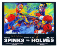 Larry Holmes & Mike Spinks Signed 16x20 Photo (JSA COA) at PristineAuction.com