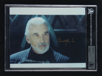 """Christopher Lee Signed """"Star Wars"""" 8x10 Photo (BGS Encapsulated) at PristineAuction.com"""