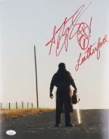 """Andrew Bryniarski Signed """"Texas Chainsaw Massacre"""" 11x14 Photo Inscribed """"Leatherface"""" (JSA COA) at PristineAuction.com"""
