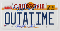 """Michael J. Fox & Christopher Lloyd Signed """"Back to the Future"""" California License Plate (PSA LOA) at PristineAuction.com"""
