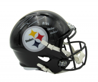 """Pat Freiermuth Signed Steelers Full-Size Speed Helmet Inscribed """"Steeler Nation!"""" (Beckett Hologram) at PristineAuction.com"""
