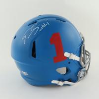 Emmanuel Sanders Signed Bills Youth Full-Size Authentic On-Field Matte Blue Speed Helmet (Beckett Hologram) at PristineAuction.com