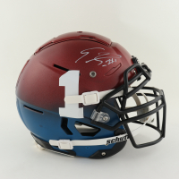 Emmanuel Sanders Signed Full-Size Youth Authentic On-Field F7 Helmet (Beckett Hologram) at PristineAuction.com