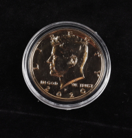 2020-P 24 KT Gold Plated Kennedy Half Dollar at PristineAuction.com