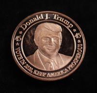 1 oz. AVDP .999 Fine Copper Donald Trump Bullion Round at PristineAuction.com