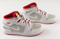 """Jeff Bergman Signed """"Bugs Bunny"""" Pair of Air Jordan Shoes Inscribed """"Air Bugs"""" (PSA Hologram) (See Description) at PristineAuction.com"""