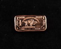 1 Gram .999 Fine Copper Buffalo Bullion Bar at PristineAuction.com