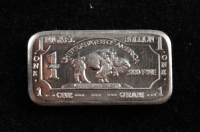 1 Gram .999 Fine Nickel Buffalo Bullion Bar at PristineAuction.com