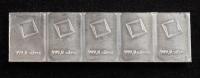 Uncut Sheet of (5) 1 Gram Silver Valcambi Mint Bullion Bars at PristineAuction.com
