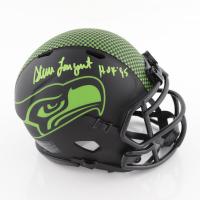 "Steve Largent Signed Seahawks Eclipse Alternate Speed Mini Helmet Inscribed ""HOF '95"" (Schwartz Sports COA) (See Description) at PristineAuction.com"