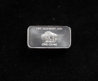 1 Gram .999 Fine Aluminium Buffalo Bullion Bar at PristineAuction.com