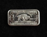 1 Gram .999 Fine German Silver Buffalo Bullion Bar at PristineAuction.com