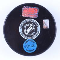 Sam Bennett Signed Calgary Flames Logo Hockey Puck (YSMS COA & & AJ's Sports World hologram) at PristineAuction.com