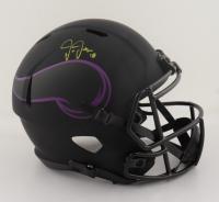Justin Jefferson Signed Vikings Eclipse Alternate Speed Full Size Helmet (Beckett COA) at PristineAuction.com