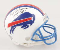 "O. J. Simpson Signed Bills Speed Mini Helmet Inscribed ""HOF 85"" (JSA COA) at PristineAuction.com"