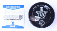 Sidney Crosby Signed 2016 Stanley Cup Champions Penguins Logo Hockey Puck (Beckett COA) at PristineAuction.com