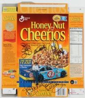 Honey Nut Cheerios Cereal Box Signed By Richard Petty, Kyle Petty & John Andretti (Beckett LOA) at PristineAuction.com