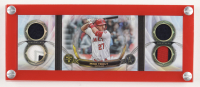Mike Trout 2019 Topps Triple Threads Windows into Greatness Relics #WGR-MT #06/10 with Display Frame at PristineAuction.com
