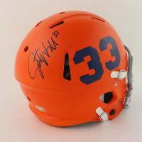Javonte Williams Signed Broncos Full-Size Authentic On-Field Matte Orange Speed Helmet (Beckett Hologram) at PristineAuction.com