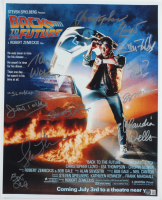 """""""Back to the Future"""" 16x20 Movie Poster Print Signed by (10) Including Christopher Lloyd, Michael J. Fox, Lea Thompson (Beckett LOA) at PristineAuction.com"""