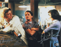 """""""Back to the Future"""" 11x14 Photo Signed By Chrisopher Lloyd, Michael J. Fox & Lea Thompson (Beckett LOA) at PristineAuction.com"""