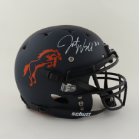 Javonte Williams Signed Youth Full-Size Authentic On-Field Matte Navy Blue Helmet (Beckett Hologram) at PristineAuction.com