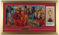 """LeRoy Neiman """"The Kentucky Derby"""" 16x27 Custom Framed LeRoy Neiman Print Display With 1974 Vintage Brochure (See Description) at PristineAuction.com"""